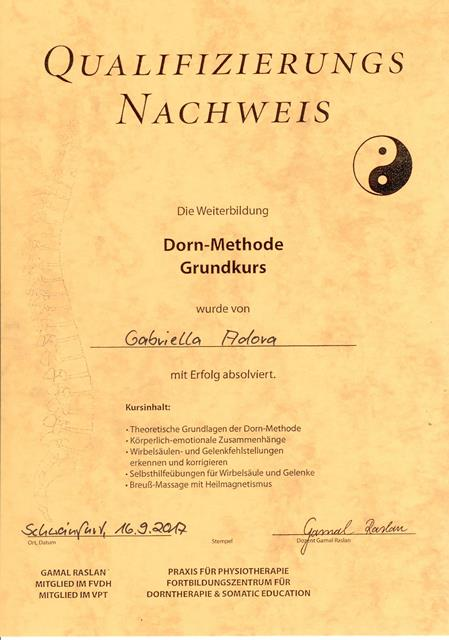 Dorn-Methode Zertifikat